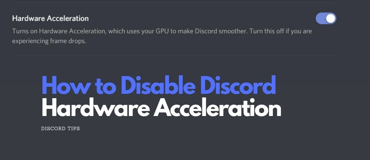 How to Turn off Hardware Acceleration Discord (2020) | Discord TIPS