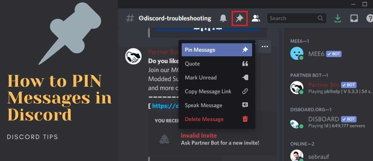How to Pin Messages in Discord (Desktop & Mobile) – Discord Tips