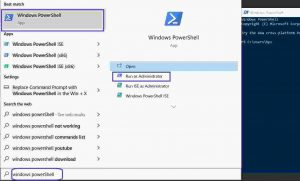How to open windows power shell